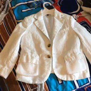 Janie and jack 4t white linen boy blazer